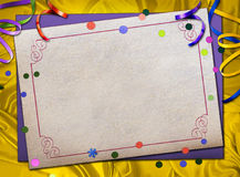 Paper frame Royalty Free Stock Photography
