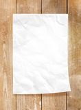 Paper frame. With old wood background Royalty Free Stock Image