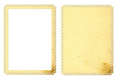 Paper frame and background. Frame and background from old paper Stock Images