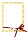 Paper frame with a bow Stock Photo