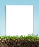 Paper frame in the grass Royalty Free Stock Photos