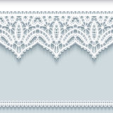 Paper frame with lace borders Stock Photo