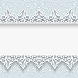 Paper frame with lace borders Royalty Free Stock Photos