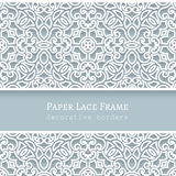 Paper frame with lace borders