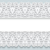 Paper frame with lace borders Stock Image