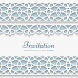 Paper frame with lace borders Royalty Free Stock Photography