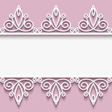 Paper frame with lace borders Stock Images