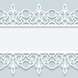 Paper frame with lace borders in neutral colors Royalty Free Stock Images