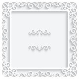 Paper frame Royalty Free Stock Photo