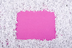 Paper frame on pink Stock Photos