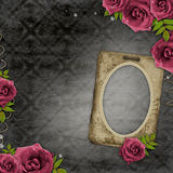 Paper  frame on vintage background Stock Photos