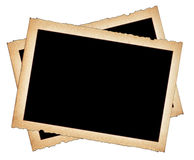 Paper frames with frayed edges Stock Images
