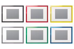 Paper frames. Set Stock Photos