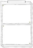 Paper frames. Vector illustration of some paper frames to write on Stock Images