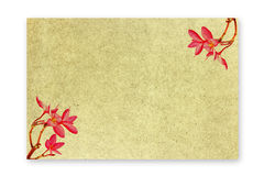 Paper frangipani flowers with red markings. Patterned paper with red frangipani flowers beautiful Royalty Free Stock Photos