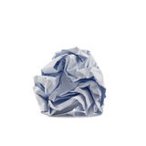 Paper Garbage. Paper crumpled into a ball isolated on white background Stock Photography