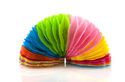 Paper garland. In many colors isolated over white Stock Photography