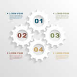 Paper gears infographic Royalty Free Stock Photo