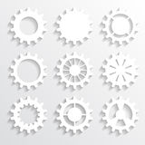 Paper gears Royalty Free Stock Images
