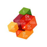 Paper geometric abstract infographic layouts Royalty Free Stock Images