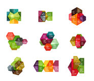 Paper geometric abstract infographic layouts. Vector business templates Royalty Free Illustration
