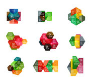 Paper geometric abstract infographic layouts Stock Images