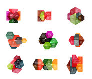 Paper geometric abstract infographic layouts Royalty Free Stock Photo
