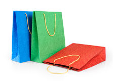 Paper gift bags. Color. Royalty Free Stock Photo