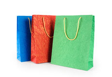 Paper gift bags. Color. Stock Images