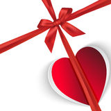 Paper gift heart isolated on white Royalty Free Stock Images