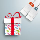 Paper Gift Percents 2 Price Sticker Royalty Free Stock Images