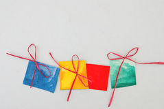 Paper gifts. On white background Royalty Free Stock Images