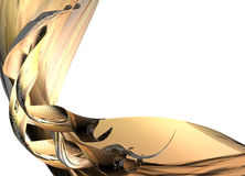 Paper from gold Royalty Free Stock Photo