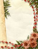 Paper grange background. With floral beautiful bouquet Stock Photo