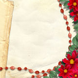 Paper grange background. With floral beautiful bouquet Royalty Free Stock Image