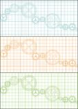 Paper graph banner - cdr format Royalty Free Stock Images