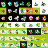 Paper graphic banners set, mega collection Royalty Free Stock Images