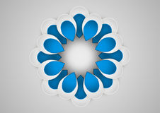 Paper graphic of flower geometric art. Vector illustration Royalty Free Stock Image