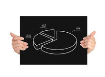 Paper with graphic Royalty Free Stock Image