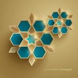 Paper graphic of islamic geometric art. Islamic decoration. Stock Image