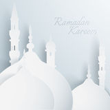 Paper graphic of islamic mosque. Stock Photography