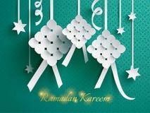 Paper graphic of ketupat (rice dumpling). Stock Image