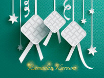 Paper graphic of ketupat (rice dumpling). Stock Photography