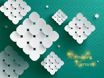 Paper graphic of ketupat (rice dumpling). Royalty Free Stock Photo