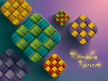 Paper graphic of ketupat (rice dumpling). Royalty Free Stock Images