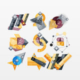 Paper graphics infographic web layouts Stock Photos