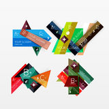 Paper graphics infographic web layouts Royalty Free Stock Image