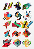 Paper graphics infographic web layouts Royalty Free Stock Images