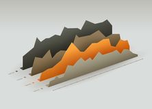 Paper graphs Royalty Free Stock Images