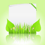 Paper with grass Royalty Free Stock Image